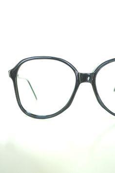 Mens NOS Vintage Eyeglasses - Mens Glossy Black Glasses - Authentic Vintage  Optical Frames - Mens Round Sunglasses - Lunettes Anciennes 7533cfd66318