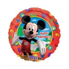 "Mickey Mouse Foil Balloon=> ₦1,337.00 #MickeyMouse #Disney #Valentine #Balloon #Foil #Cartoon  Mickey Mouse wants to wish you a happy birthday! Our Foil Mickey Mouse Happy Birthday Balloon features Mickey on a colorful background with a ""Happy Birthday!"" headline. Use alone as a party decoration or mix and match with latex balloons to create a fun balloon bouquet!"