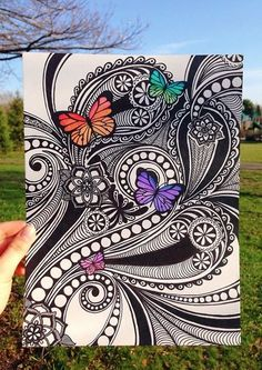 The Incidental Art Of Doodling And Why It Is So Fascinating - Bored Art - ZenTangle Doodles easy Zentangle Drawings, Doodles Zentangles, Zentangle Patterns, Mandala Drawing, Doodle Art Drawing, Trees Draw, Flowers Draw, Posca Art, Tangle Art