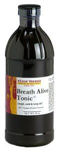 Breath Alive-(Kanakasava) Ayurvedic Respiratory Lung Liquid Tonic (8oz) by Vadik Herbs. $19.99. Liquid tonics absorb faster in the body for more immediate results. Asava & Arishta. Excellent for smokers or those with breathing problems.. No artificial flavors, colors, or preservatives. BREATH ALIVE is a natural herbal formula that contains four herbs known for their value in naturally supporting the respiratory system. The primary herb BREATH ALIVE is Licorice, which sup...