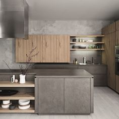 cucina cemento resina