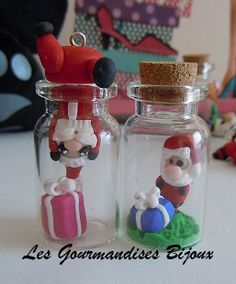 Funny polymer clay christmas bottle charms! ❤️ I love the one on the left! Vote your favorite below in the comments!✨
