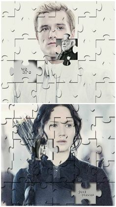 This is really deep to me. Cuz Peeta was in snow's grasp and katniss in Coin's.... :)