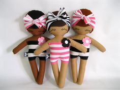 Swimming Sarah Beach Beauty Rag Doll MADE TO por rileyconstruction