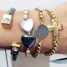 Vila Veloni Jewelry Store - Set By Vila Veloni Elegant Grey Gemstone Bracelets , $150.00 (http://www.vilaveloni.com/set/set-by-vila-veloni-elegant-grey-gemstone-bracelets/)