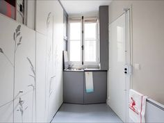 Tiny apartment in Paris (8sqm only) - inspiratie voor in een klein huisje :-)