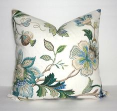 Sage green and aqua antique floral decorative pillow cover Recover Pillows, Teal Pillows, Floral Pillows, Linen Pillows, Decorative Pillows, Cotton Pillow, Throw Pillow Covers, Throw Pillows, Scatter Cushions