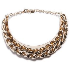 Zara Gold Plated Maxi Chain Necklace ($26) ❤ liked on Polyvore