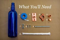 What you need to make your own Tiki Torch.  You can click on the post to find the complete instructions.
