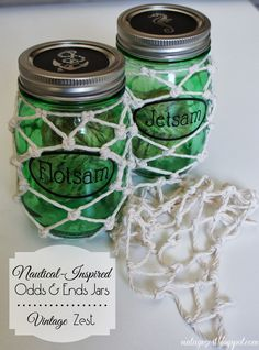 "Diane's Vintage Zest!: Nautical-Inspired ""Odds & Ends"" Jars"
