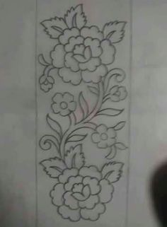 Grand Sewing Embroidery Designs At Home Ideas. Beauteous Finished Sewing Embroidery Designs At Home Ideas. Border Embroidery Designs, Embroidery Patches, Hand Embroidery Patterns, Ribbon Embroidery, Floral Embroidery, Machine Embroidery, Shirt Embroidery, Bordado Jacobean, Bordado Popular