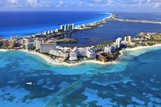Cancun Mexico is Voted In the top 25 beach destinations in the world. Cancun Mexico, a Mexican city on the Yucatan Peninsula bordering the Caribbean Sea, is Vacation Places, Vacation Destinations, Dream Vacations, Vacation Spots, Places To Travel, Cancun Vacation, Mexico Vacation, Vacation Rentals, Places Around The World