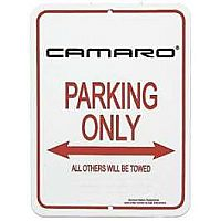 Camaro Parking Sign, With 3rd Generation Logo