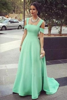 Mint Green Prom Dresses,Sexy Evening Dresses,Prom Gowns,Elegant Prom Dress,Satin…