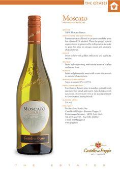 Castello Del Poggio Moscato...best wine EVER!