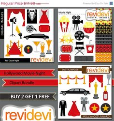 Clipart Hollywood Award Silhouette - Red Carpet Party - Clip art ...
