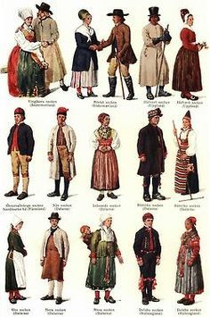 Traditional Costumes of Sweden