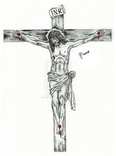 Jesus Forearm Tattoo, Jesus On Cross Tattoo, Jesus Tattoo, Jesus On The Cross, Holy Tattoos, Beautiful Angel Tattoos, Crucifix Tattoo, Cross Drawing, Bible Tattoos