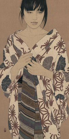 Japanese woman in yukata