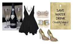 """Save Water.....Drink Champagne"" by rachelhughes-1 ❤ liked on Polyvore featuring Casadei, Yves Saint Laurent and Kate Spade"