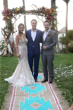 Bachelor Nation Wedding: Carly Waddell & Evan Bass June 2017. Nude wedding dress, faux side braid and a piece of the carpet from the engagement on Bachelor in Paradise...swoon.