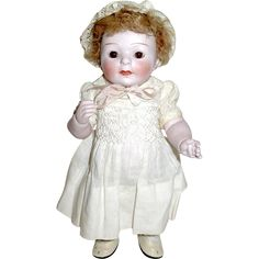 """Rare 8"""" All Bisque German Doll, Pale Bisque w Slight Pink Caste, Orig. from miladyschoice on Ruby Lane"""
