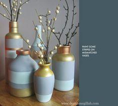 West Elm Knock-Off Stripe Vases
