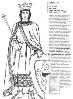 Vratislav II. Cool Coloring Pages, School Hacks, Middle Ages, Archaeology, Techno, Homeschool, Education, Geography, Projects