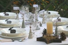 Decorazioni tavola natalizia