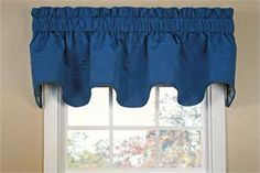 Seashell Trellis Scallop Valance in 5 colors: features a Matelassé fabric with sea shells and scalloped bottom hem.  Excellent for beach home, kitchen curtains or bathroom curtains - coordinating shower curtain available. Featuring starfish, sand dollars, conch shells and scallop seashells.