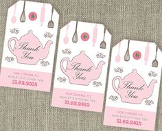 Kitchen Tea 'Teapot'  Bridal Shower Tea Thank You by SladeStudios, $10.00