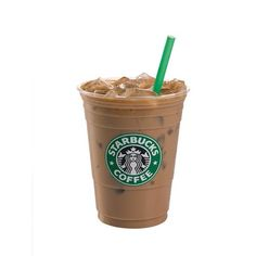 16Oz ICED Sugar-Free Hazelnut soy latte- 110 calories, enjoy <3.