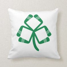 e4d92ba0c9 Ice Hockey St Patrick s Day Irish American Hockey Throw Pillow - st.  patricks day gifts