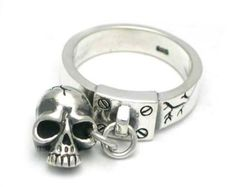 Valuable Ring Ssr197 Bloody Silver Skull Lock To Ring New | 1 Carat Diamond Ring Chrome Hearts