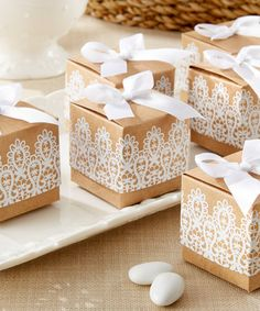 Look what I found on #zulily! Rustic & Lace Craft Favor Box - Set of 24 by Kate Aspen #zulilyfinds