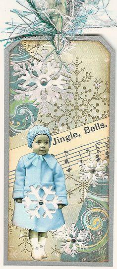 Altered Art Tag - Jingle Bells