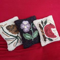 Kit - Hooked Balsam Pillow - Three Style Options - Everything Included by ParrisHouseWoolWorks on Etsy