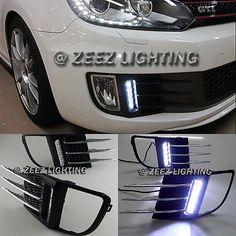 Exact Fit LED Daytime Running Light DRL w/ Bumper Grill VW MK6 Golf GTi 09-14 #D