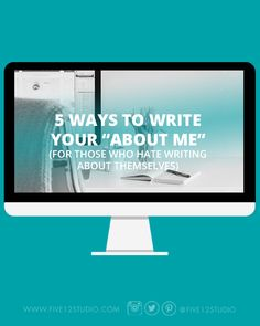 For people who hate to write...?