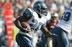 Running back Maurice Morris of the Seattle Seahawks carries the ball during game against the San Francisco 49ers at 3 Com Park on December 1 2002 in...