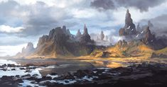 Fantasy landscape concept. I started to create this a speed painting process i played around with the brushes and lots shapes and forms and eventually i come up a nice landscape that catch my atten...