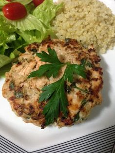 Miss Saúde : Hambúrguer de salmão