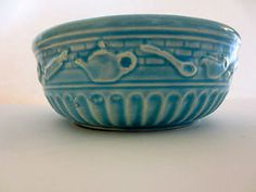 Robinson Ransbottom Roseville Ohio Kitchen Utensils Bowl Blue R R P Co 1939   eBay