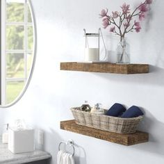 8 Knowing Clever Ideas: Floating Shelves Living Room Diy floating shelf fireplace how to build.Floating Shelf Vanity Style floating shelves tv wall home office.Floating Shelves For Tv Fire Places. Walnut Shelves, Solid Wood Shelves, Wood Floating Shelves, Wood Wall Shelf, Wall Décor, Wooden Shelves, Wall Mirror, Wall Shelving, Pvc Wall