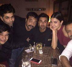 Anushka Sharma celebrated her birthday with Anurag Kashyap, Ranbir Kapoor, Vivaan Shah and Karan Johar. #Bollywood #Fashion #Style #Beauty #Handsome #Instagram