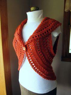 Crochet circle shrug vest