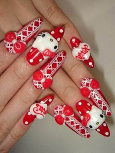 """Hello Kitty Attach designs for Christmas Holidays and winter 2017-2018 are appealing abundant the aforementioned as the accepted Hello Kitty attach designs, the colors acclimated in the Hello Kitty attach designs do feel like winter with the all-embracing white designs it gives you the activity of snow and algid weather. With admirers all over the … Continue reading """"Christmas Holidays Hello Kitty nail designs"""""""