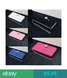 Cases & Covers For Iphone 4 4S Luxury Bling Diamond Leather Flip Cover Wallet Case #ebay #Electronics