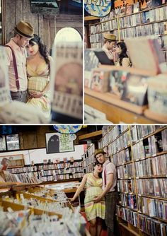 Record Store Pregnancy Photography Maternity Baby Bump 4494