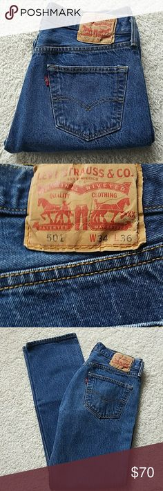 LEVI'S 501 BUTTONFLY JEANS VINTAGE LEVI'S 501 BUTTONFLY JEANS VINTAGE  SIZE TAGGED: W34 L36 SIZE MEASURED: W31  L32 RISE:11 1/2  HIPS:39 BEAUTIFUL♡♡♡♡♡♡♡♡♡♡♡♡ Levi's Jeans Straight Leg